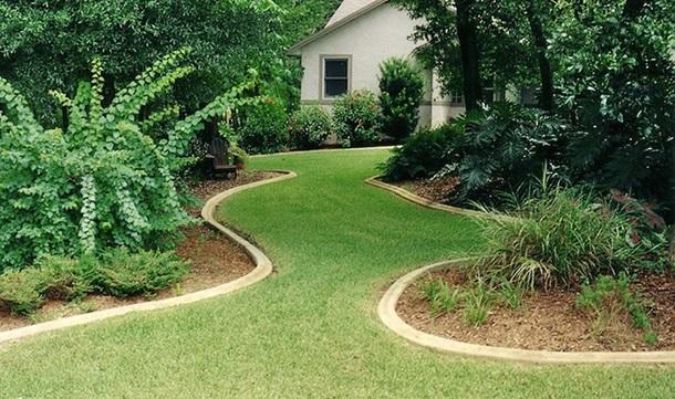 зеленая дорожка к дому
