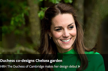 Duchess Kate to Help Design a Garden at the Chelsea Flower Show