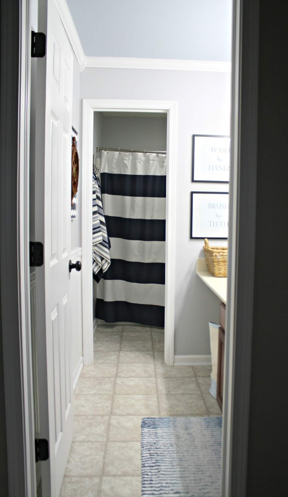 Two room bathroom turned one room