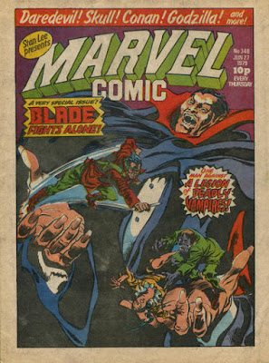 Marvel Comic #348, Dracula and Blade