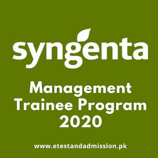 Syngenta Management Trainee Program 2020