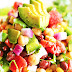 LOADED VEGGIE SALAD WITH CHICKPEAS AND BLACK BEAN
