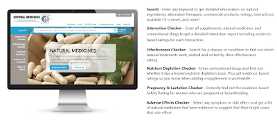 natural medicines database features