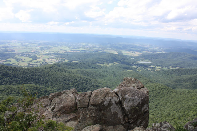 View of Shenandoah Valley from hiking trail.