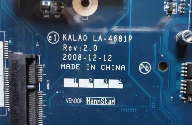 LA-4681P Rev 2.0 KALA0 Acer Aspire 5737z Bios