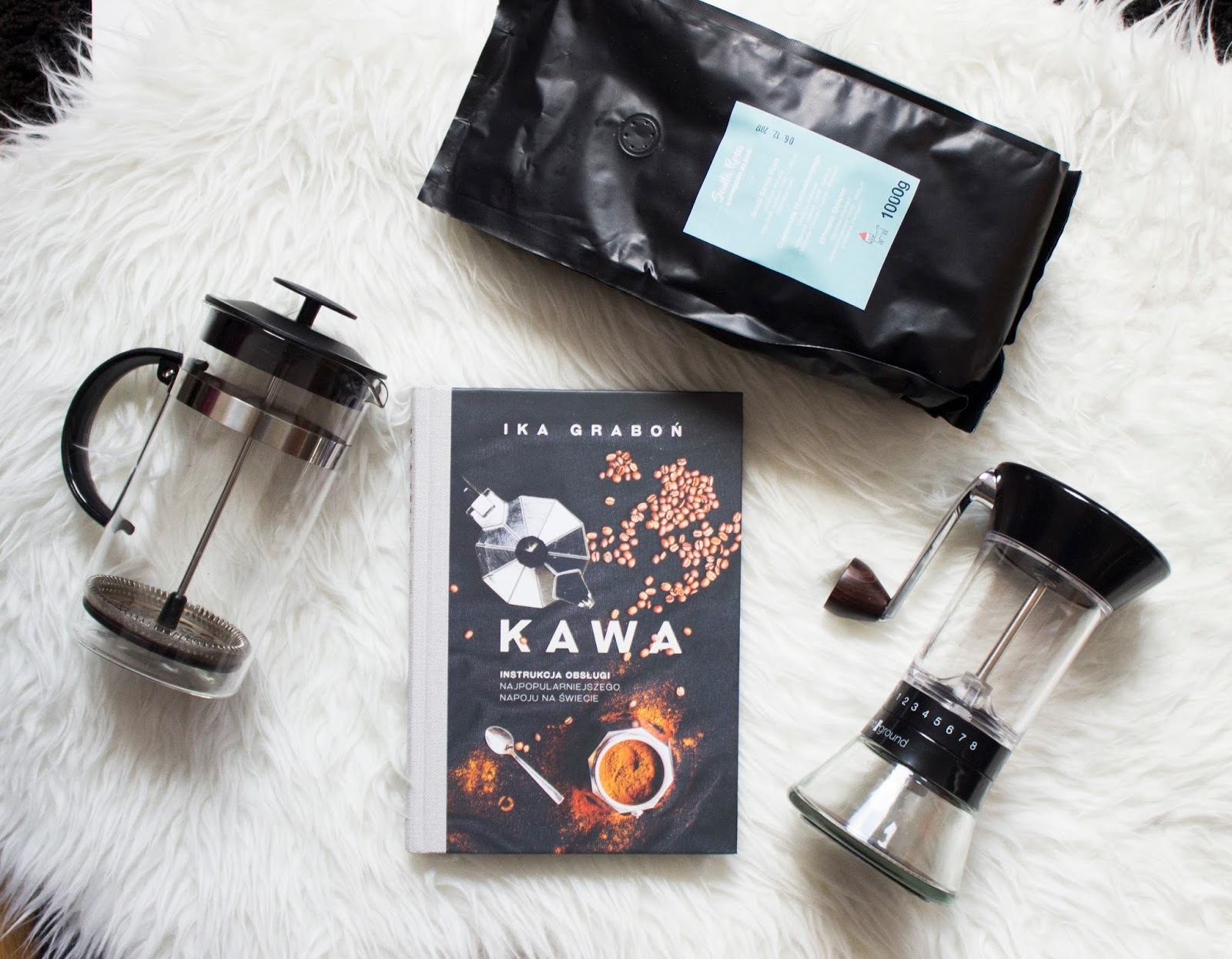 książka, kawa młynek, frenchpress, ika graboń, recenzja, wylegarnia pomyslow