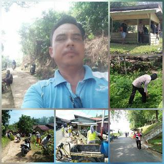 Menyambut bulan Cuci Ramadhan Pemerintah Desa Penuba lakukan Gotong Royong bersama Masyarakat