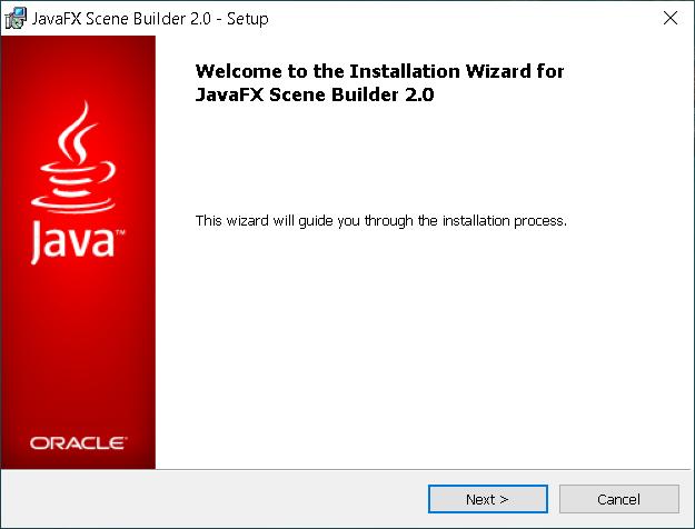 Step 1 - JavaFX Scene Builder 2.0 on Windows