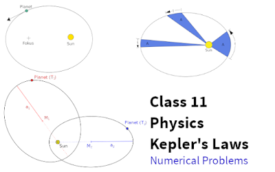 CBSE Class 11 - Physics - Gravitation - Kepler's Laws Of Planetary Motion - Numerical Problems with Solutions (#class11Physics)(#eduvictors)