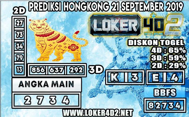 PREDIKSI TOGEL HONGKONG POOLS LOKER4D2 21 SEPTEMBER 2019