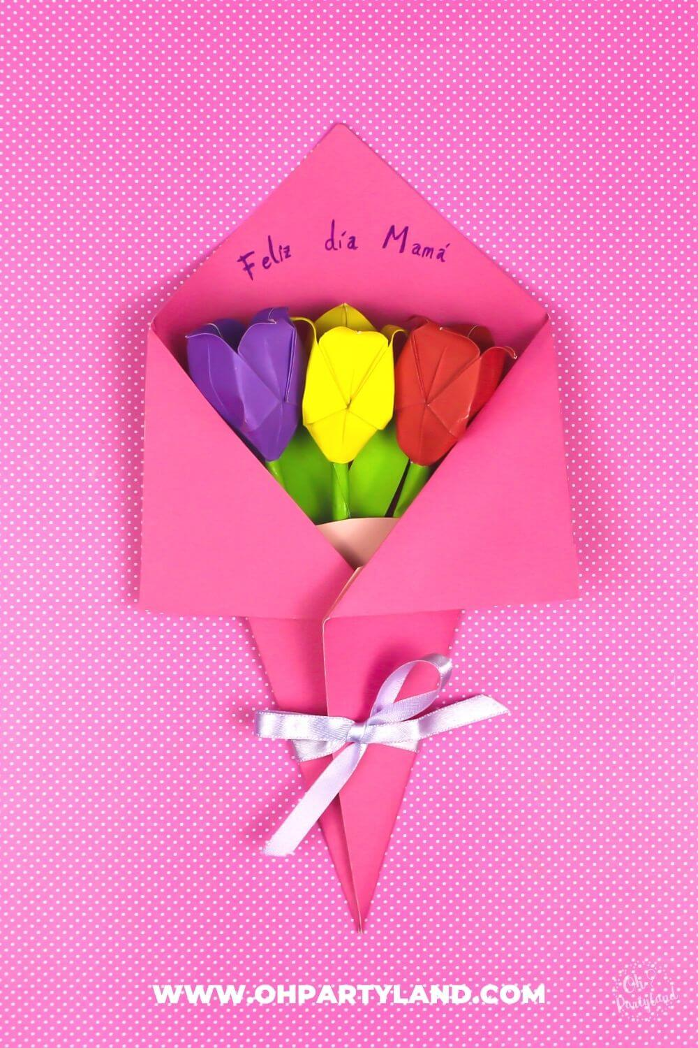 Paper Flower Bouquet Card