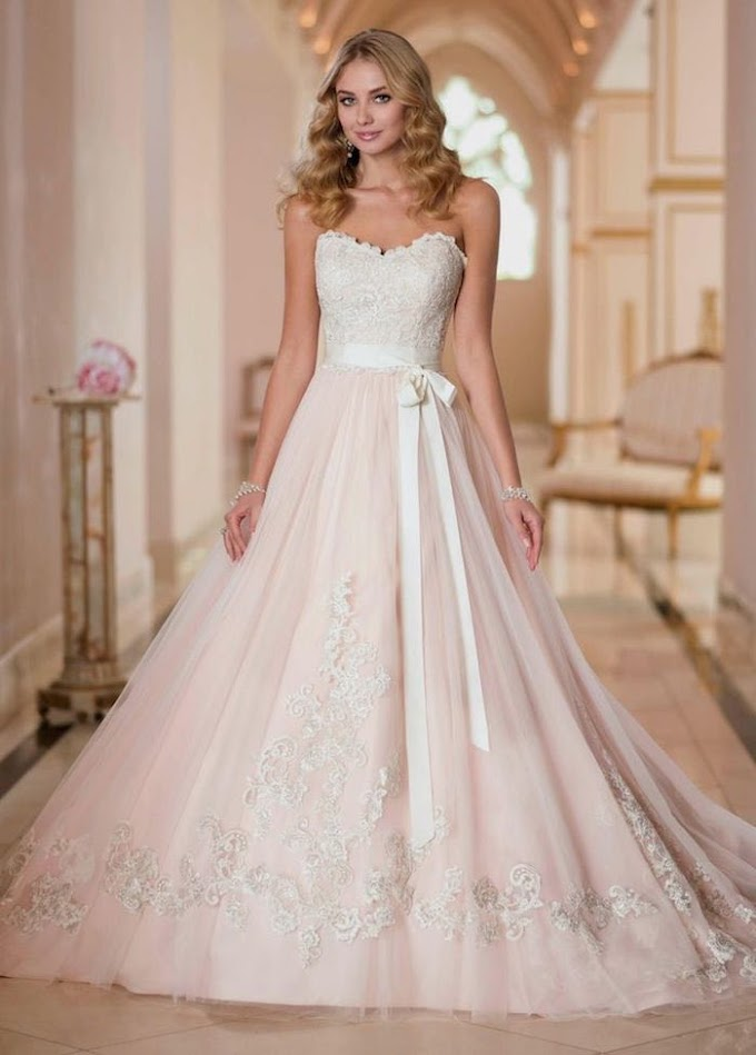Blush Wedding Dresses With Classic Details