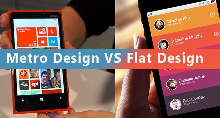 Perbedaan Metro Design dan Flat Design
