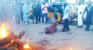 Mob Chopped Off Kidnapper Hands, Set Him Ablaze In Calabar