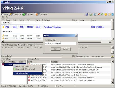 Cara Memasukan Ecm Key Tandberg di vPlug Receiver