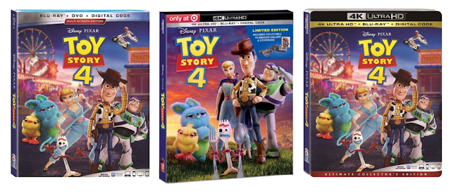 Toy Story 4 4K Ultra HD, Blu-ray, and DVD cover artwork