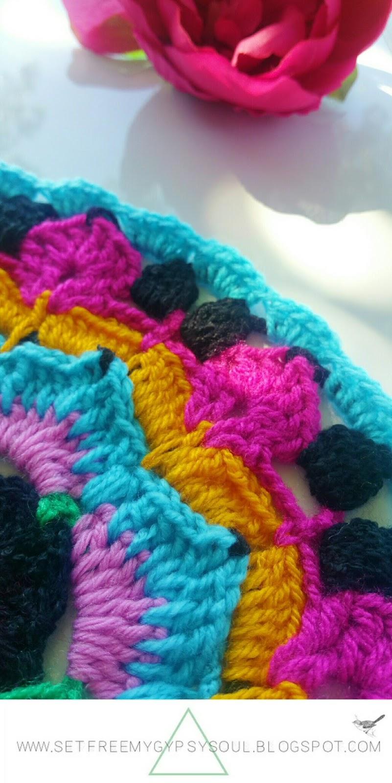 african flower mandala crochet pattern doily boho hippie