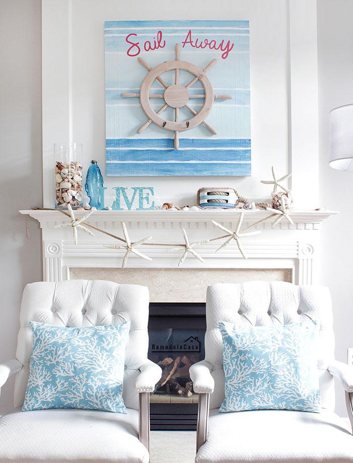 coastal decor - sail away wall art