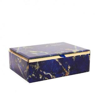 Gemstone Jewellery Box - Lola Rose - Lapis Lazui