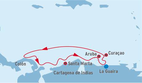 Nuevo itinerario por el caribe de los cruceros Pullmantur, saliendo desde La Guaira. Nueva ruta de crucero por el Caribe