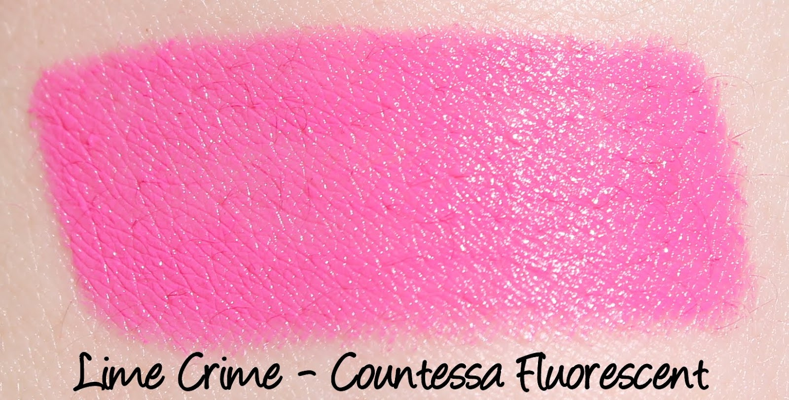 Lime Crime Countessa Fluorescent Lipstick Swatch