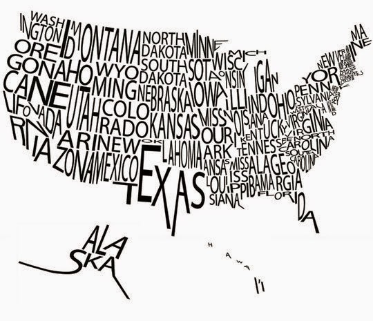 creative usa map