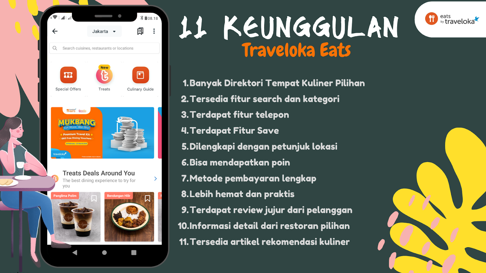 Keunggulan Traveloka Eats
