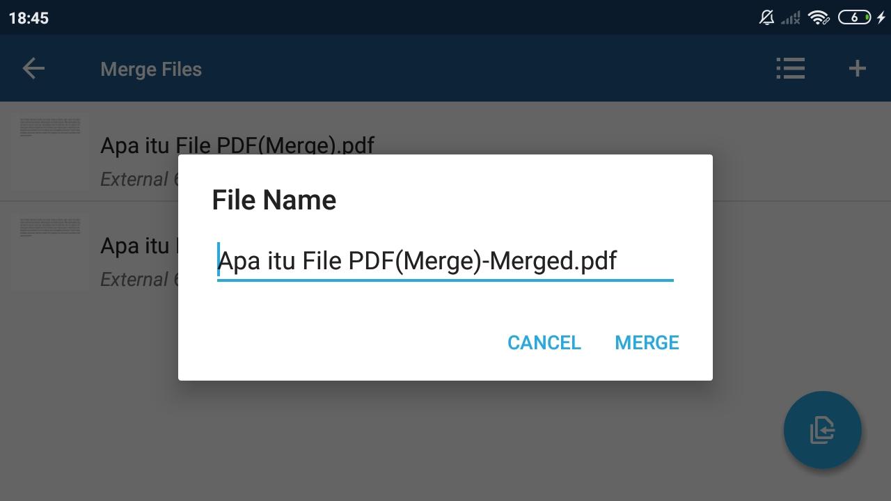 Atur Nama File PDF yang Sudah Digabungkan