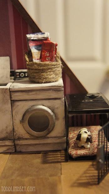 Domer Home Diy Dollhouse Miniature Dog Crate 1