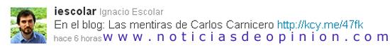 Polémica: periodistas de izquierdas enfrentados. Carlos Carnicero vs Ignacio Escolar