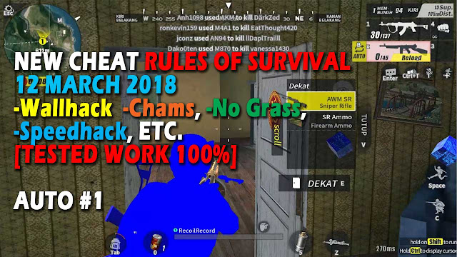 Cheat Rules of Survival Leusin 7.0 Update 12 maret 2018 !