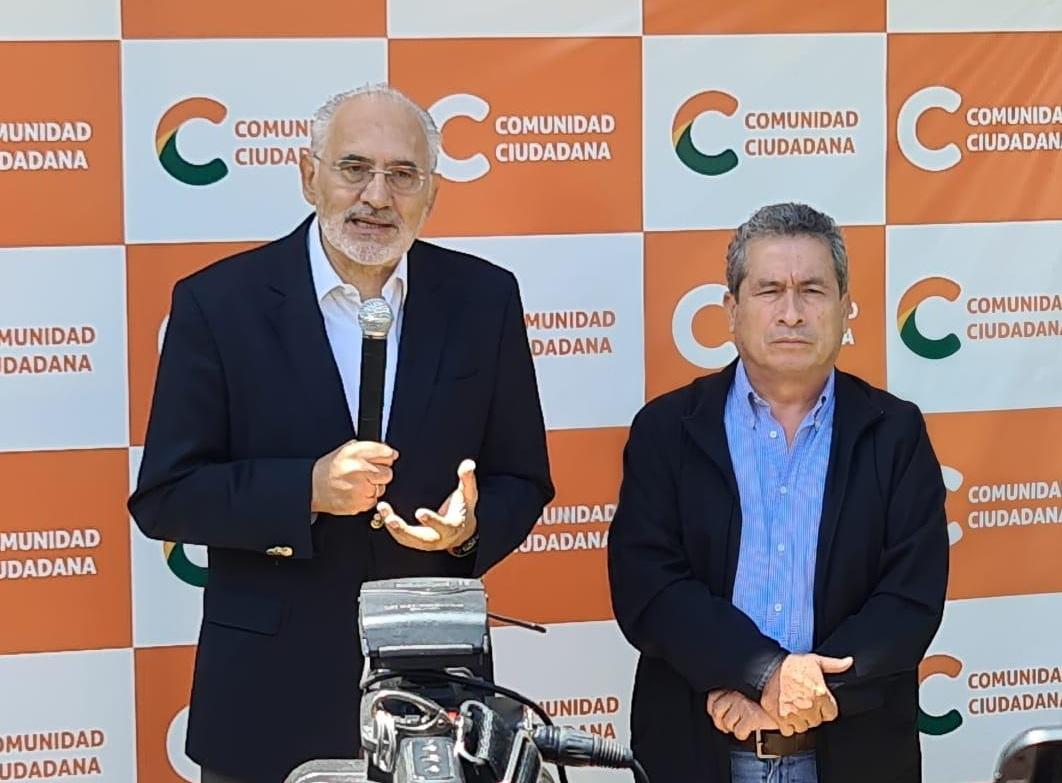 Mesa y Pedraza, el binomio de Comunidad Ciudadana quedó en segundo lugar de las elecciones / ABI