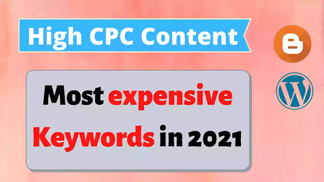 Most expensive Keywords in 2021