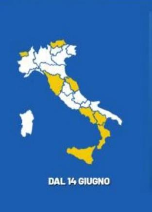 Puglia in zona bianca da domani lunedì 14 giugno