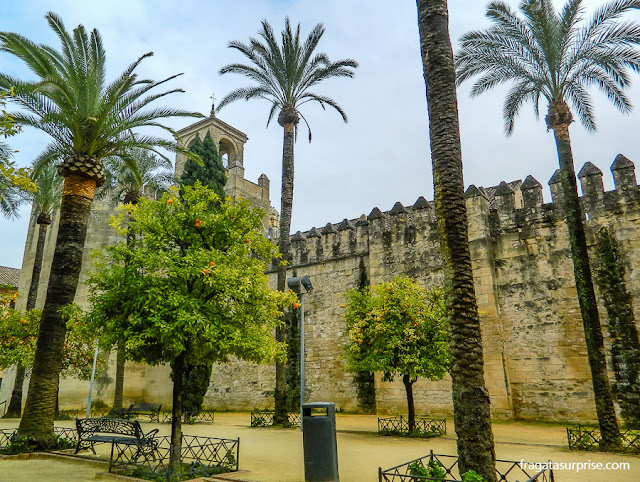 muralhas do Alcázar de los Reyes Cristianos, em Córdoba, Andaluzia