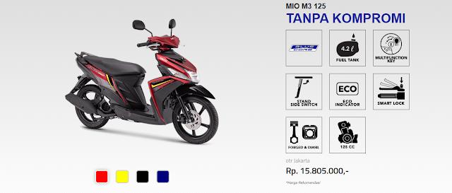Spesifikasi lengkap Yamaha Mio M3
