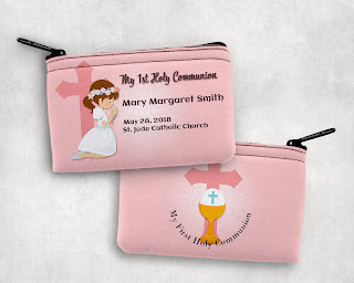 Girl First Communion Rosary Pouch