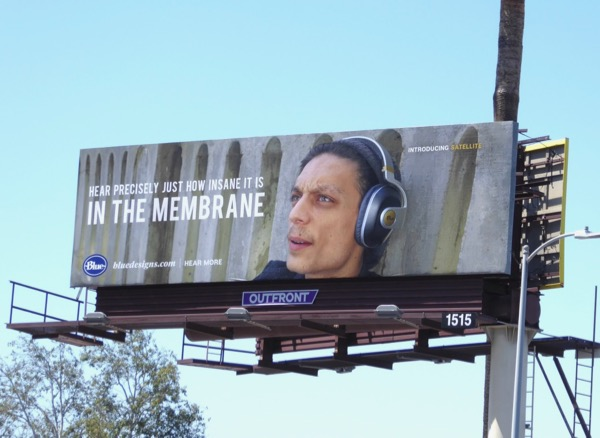 Insane membrane Blue Satellite headphones billboard