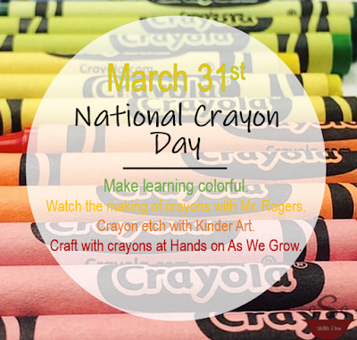 On March 31st, use those crayons to craft, color and create.