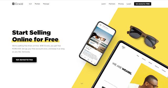 انشاء متجر الكتروني مجاني عبر  ecwid