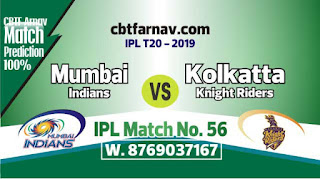 KKR vs MI IPL Match Today 56th Match Prediction Today Who Will Win
