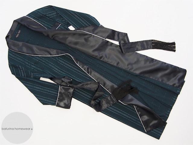 dapper dressing gown men dark green black silk classic traditional gentleman smoking jacket robe luxury