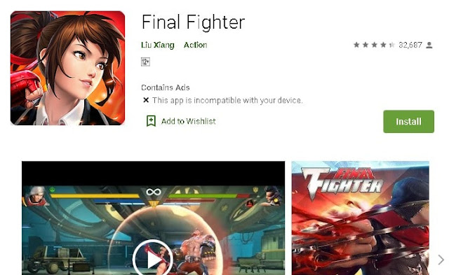 best fighting games for android 2015