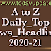Daily Top 12 Headlines In Hindi & English :