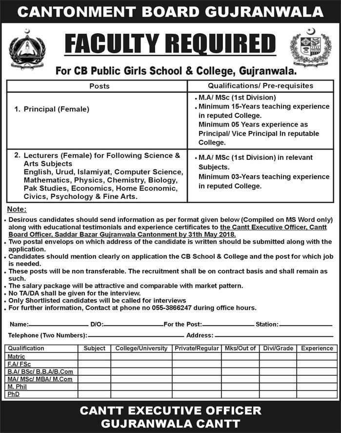 govt-jobs-for-females-in-cantonment