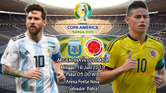 Prediksi Copa America Argentina vs Colombia (16 Juni 2019)