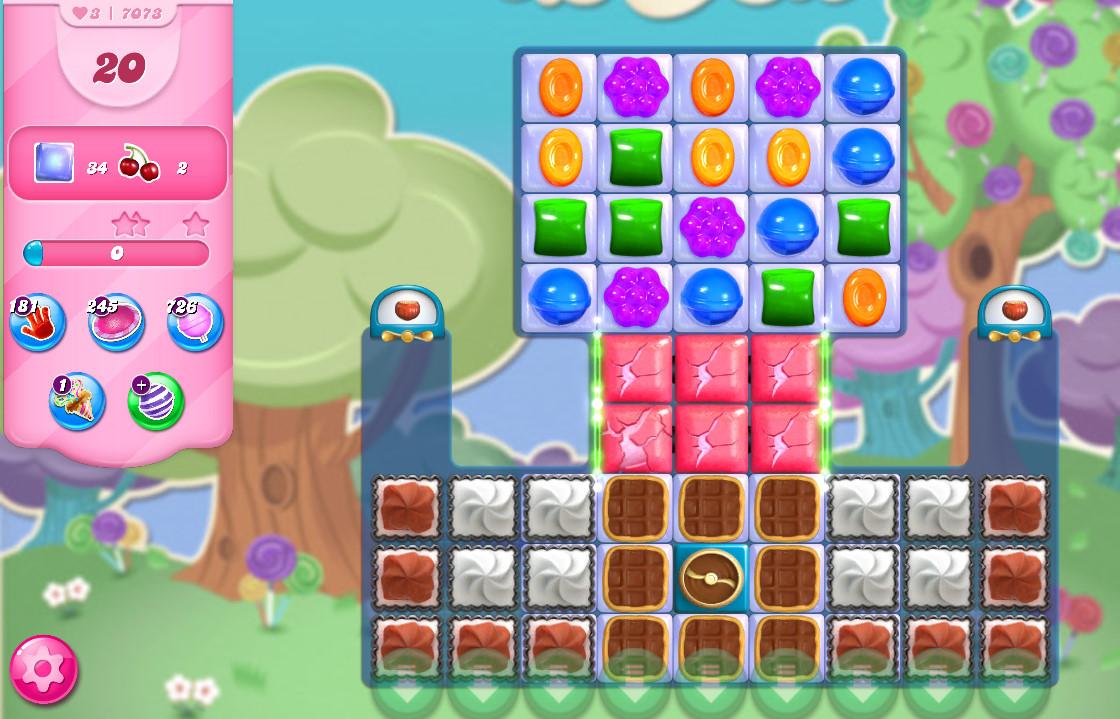 Candy Crush Saga level 7073