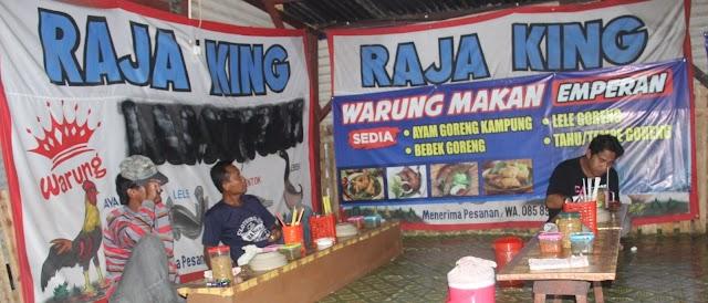 Warung Makan Raja King Jalan Lingkar Barat Kudus, Srundeng, Lele, Bebek, Enthok, Ayam Goreng