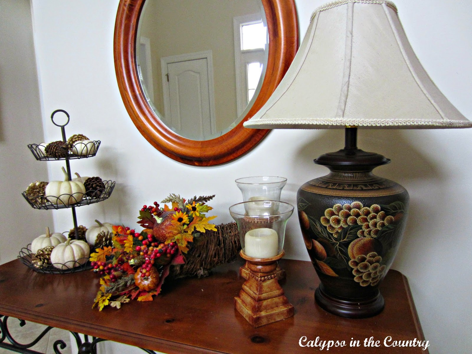 Fall Foyer Table