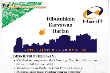 Lowongan Kerja Bandung Karyawan Harian Auto Painter Hariff
